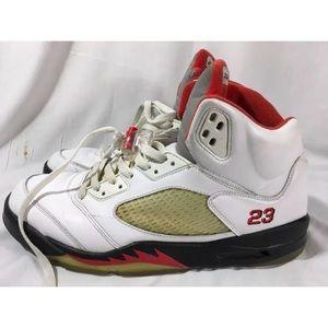 5417307a77eb9a Jordan Shoes - 2008 Nike Air Jordan 5 V Retro Fire Red Men 13